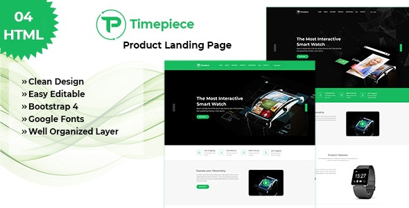 Product Landing Page - Timepiece - Business Corporate
