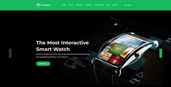 Product Landing Page - Timepiece