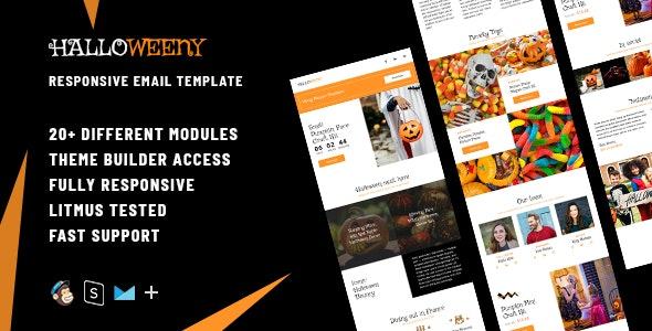 Halloweeny  – Responsive HTML Email + StampReady, MailChimp & CampaignMonitor compatible files - Email Templates Marketing