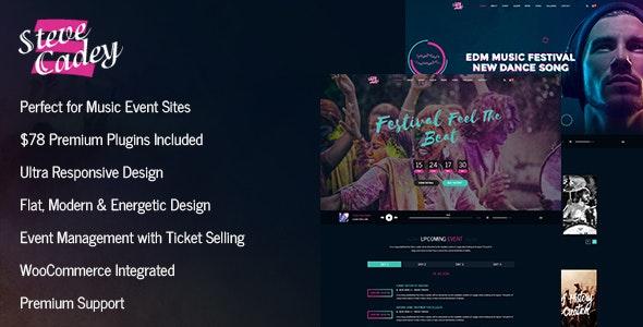 Steve Cadey - WordPress Music Theme For Musicians, DJs, Bands and Solo Artists - Entertainment WordPress