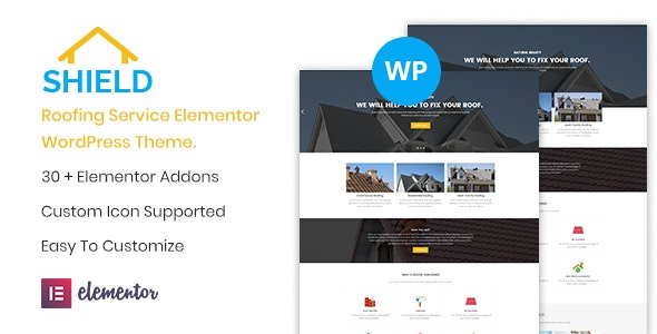 Shield - Roofing Service Elementor WordPress Theme by