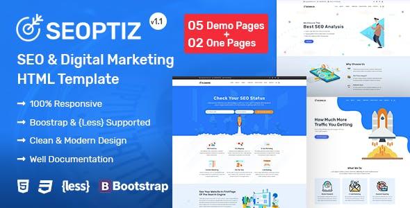 Seoptiz - SEO & Digital Marketing Agency HTML Template