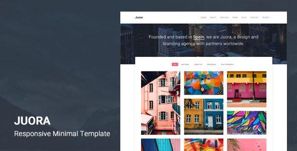 Juora - Minimal HTML5 Template - Creative Site Templates