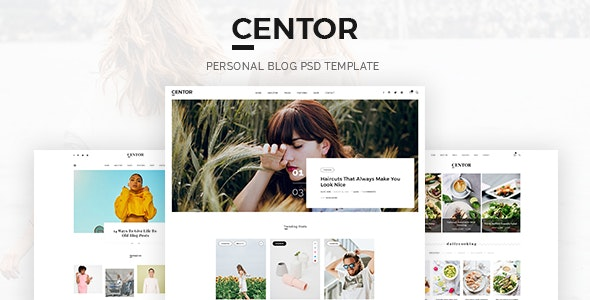 Centor - Personal Blog PSD Template - Personal Photoshop