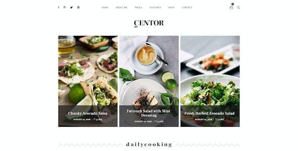 Centor - Personal Blog PSD Template