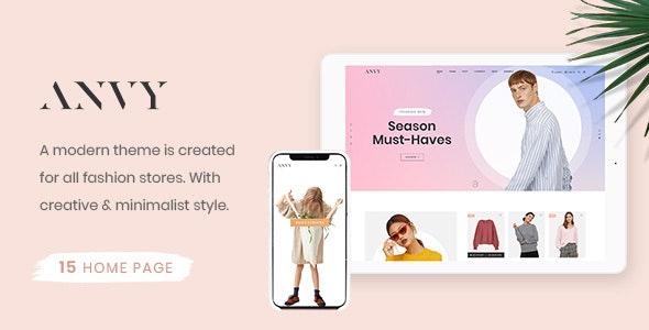 Anvy - Clean, Minimal Shop PSD Template - Fashion Retail