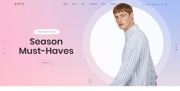 Anvy - Clean, Minimal Shop PSD Template
