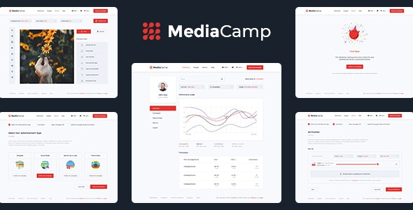 Mediacamp - Online Advertising PSD Template - Marketing Corporate