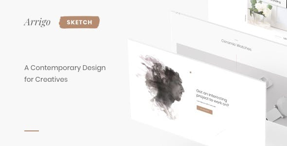 Arrigo – Creative Portfolio Contemporary Sketch Design