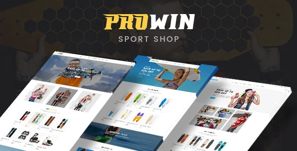 Prowin - Sports Clothing & Equipment Store HTML Template - Entertainment Site Templates