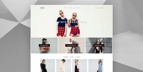 Dewey - Creative Shop PSD Template - Shopping Retail