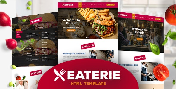 Eaterie - Restaurant/Cafe HTML5 Template - Food Retail