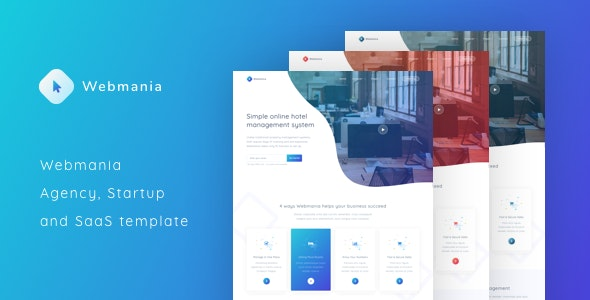 Webmania - Agency, Startup and SaaS Template - Software Technology
