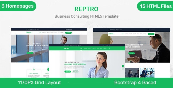 Reptro - Business Consulting HTML5 Template - Business Corporate