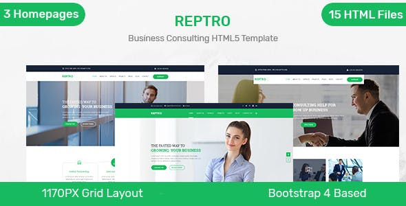Reptro - Business Consulting HTML5 Template