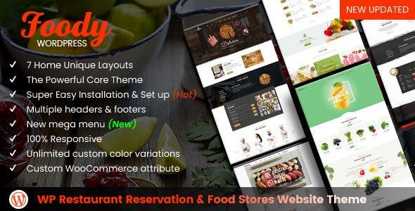 foody yemek tarifleri wordpress teması