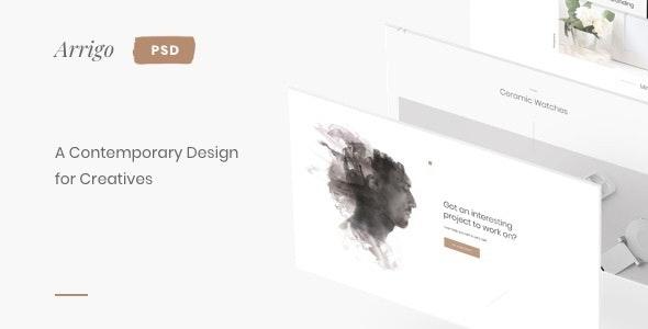 Arrigo – Creative Portfolio Contemporary PSD Template - Portfolio Creative