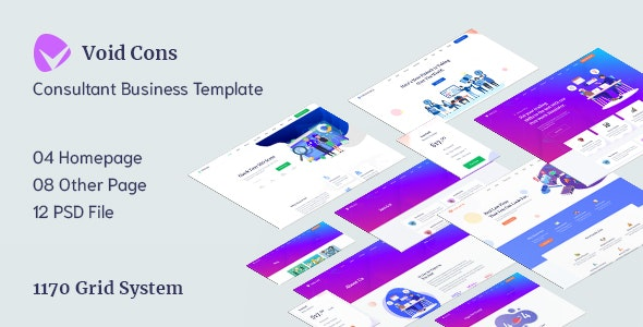 Void Cons- Consulting Business PSD Template - Business Corporate