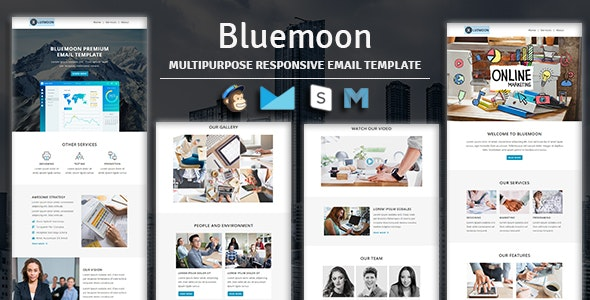 Bluemoon - Multipurpose Responsive Email Template - Newsletters Email Templates