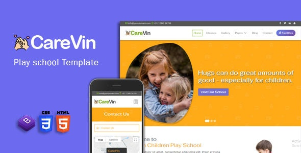CareVin - Day care & Children School HTML Template - Business Corporate