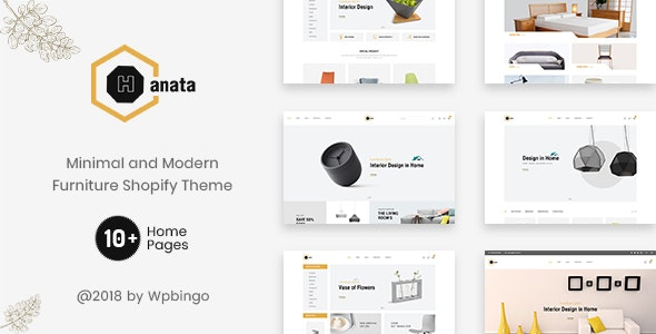Hanata - Minimal and Modern Furniture Shopify Theme - Shopping Shopify