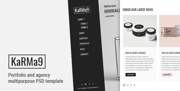 Karma 9 Pro - Agency & Freelancer Multipurpose PSD Template - Portfolio Creative
