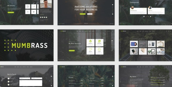 Mumbrass - Full Screen Personal Portfolio HTML Template - Portfolio Creative