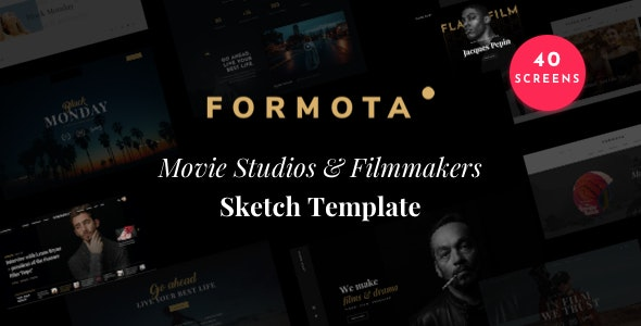 Formota - Movie Studios and Filmmakers Sketch Template - Sketch UI Templates