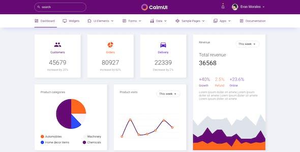 CalmUI Bootstrap Admin Dashboard Template
