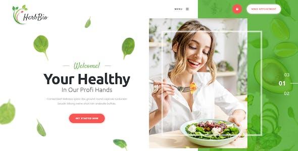 HerbBio - Vegetarianism & Nutritionist PSD Template