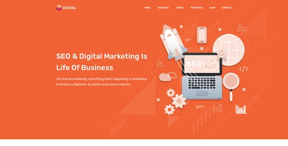 Upper   SEO And Digital Marketing Agency HTML Template