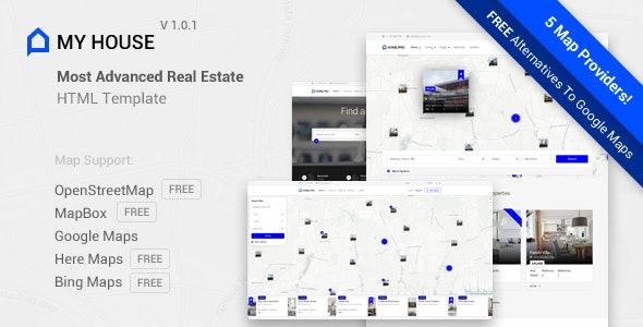 My House - Advanced Real Estate Template - Business Corporate