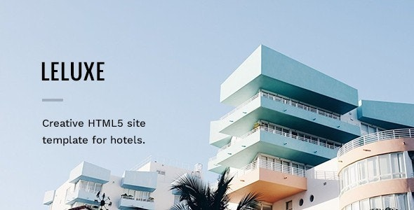 LeLuxe - Booking Hotel HTML Site Template - Travel Retail