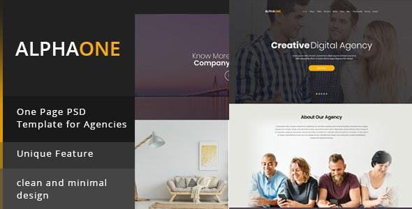 Alphaone -  Onepage PSD template - Creative PSD Templates