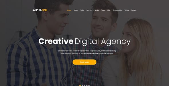 Alphaone -  Onepage PSD template