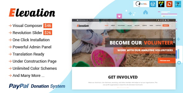 ELEVATION - Charity/Nonprofit/Fundraising WP Theme - Charity Nonprofit