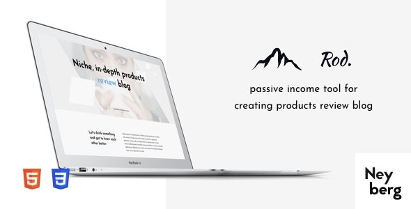 Rod - Niche, In-depth Products Review Blog, Affiliate Website HTML Template - Site Templates