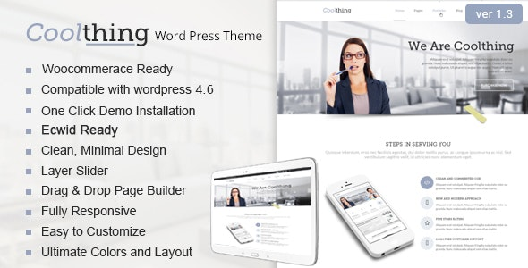 Coolthing - Corporate  Business WordPress Thems - Business Corporate