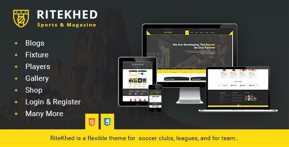 RiteKhed Fixtures and Sports Html Template - Nonprofit Site Templates