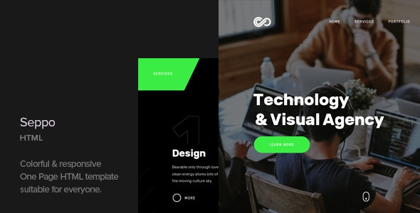 Seppo - Corporate One Page HTML Template - Business Corporate