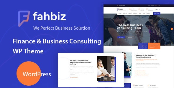 Fahbiz - Finance & Consulting WordPress Theme - Marketing Corporate