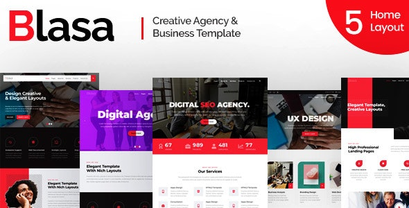 Blasa - Creative Agency & Business Template - Business Corporate