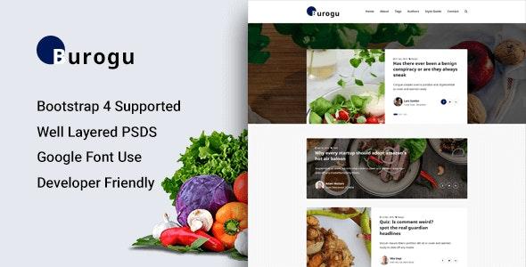 Burogu - Modern Blog Website PSD Template - Activism Nonprofit