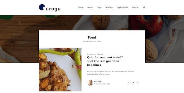 Burogu - Modern Blog Website PSD Template