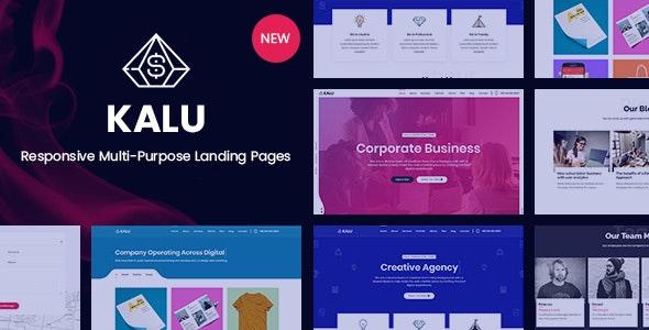 Kalu - Responsive Multi-Purpose Landing Pages - Marketing