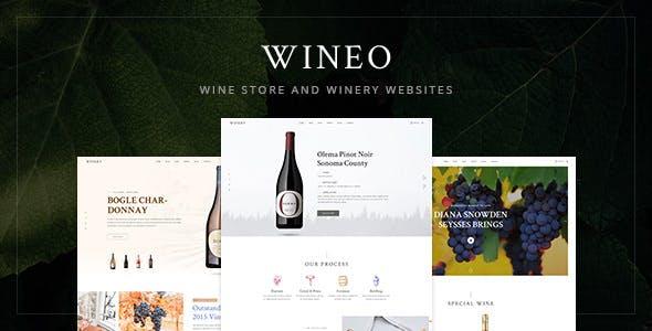 Wineo Wine Psd Template