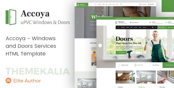 Accoya - UPVC Windows HTML Template - Business Corporate