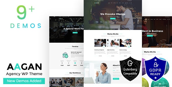 Aagan - Agency, Startup WordPress Theme - Business Corporate
