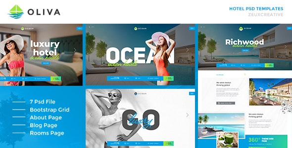 Oliva - Hotel Multipage PSD Template - Travel Retail