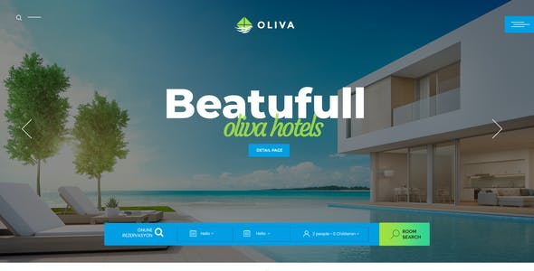 Oliva - Hotel Multipage PSD Template
